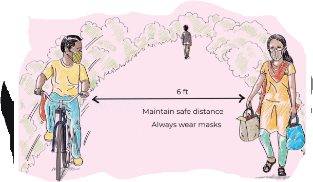 Maintain safe distance in COVID