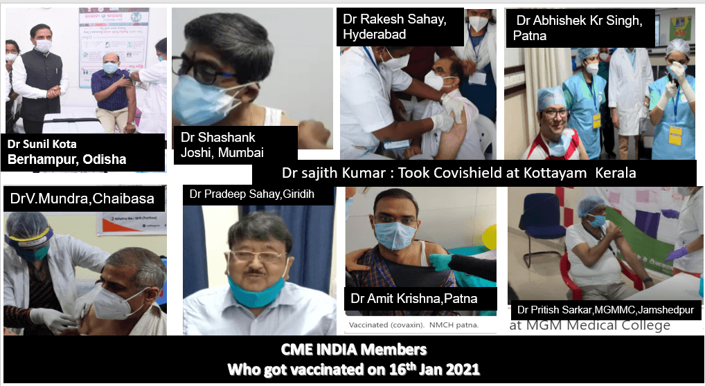 CME INDIA members getting vaccinated