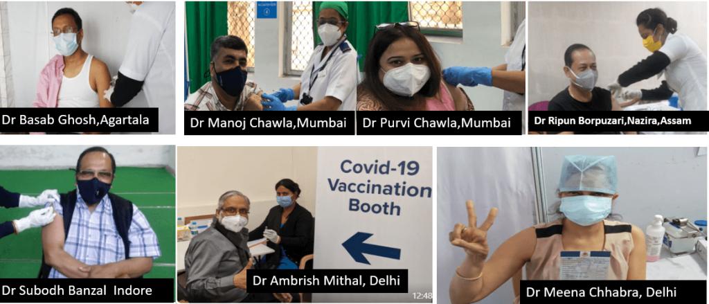 CME INDIA members taking vaccine