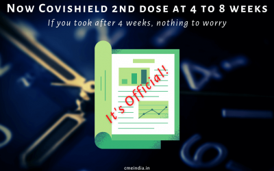 Now Covishield 2nd dose officially at 4 to 8 weeks