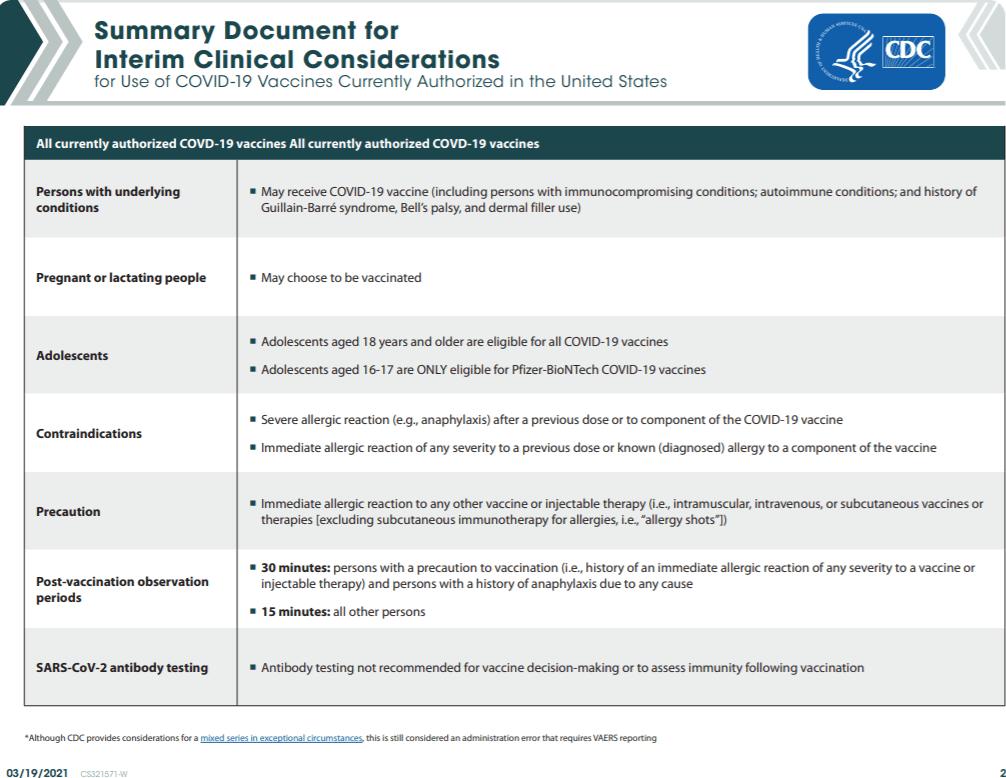 CDC Summary