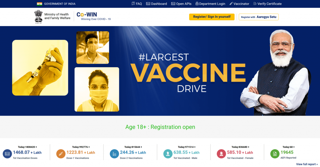 CME INDIA COVID-19 Vaccination Protocol - World's largest vaccination drive