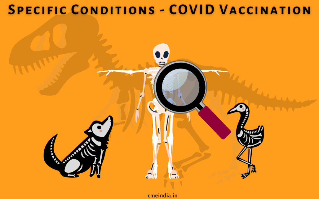 Some specific conditions and Covid vaccinations
