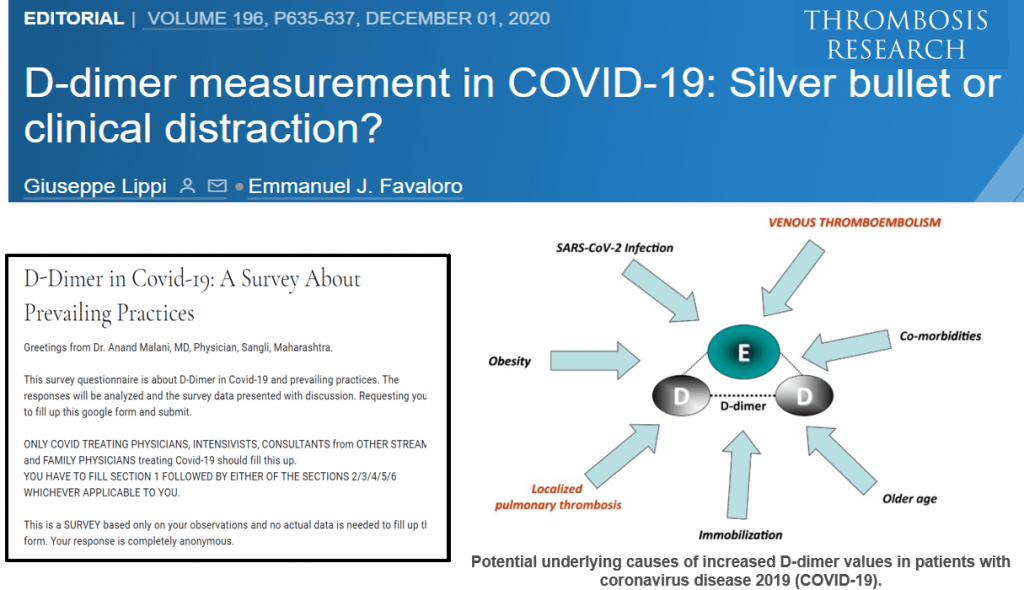 D-Dimer in Covid-19: Silver Bullet vs Clinical Distraction
