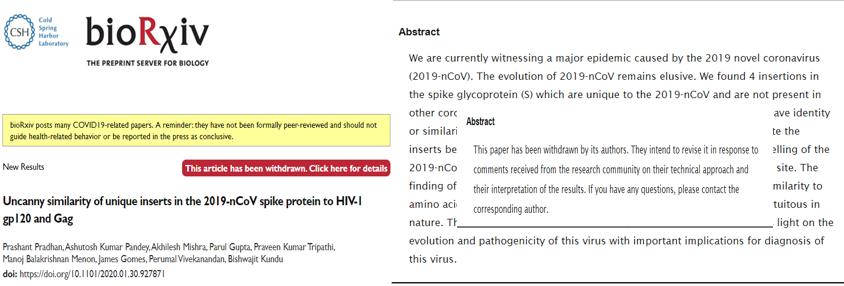 Covid lab-leak - Man-made virus