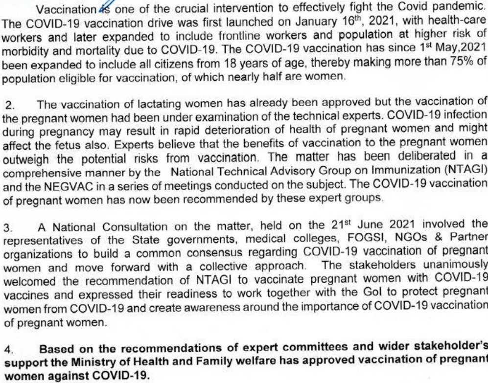 CME INDIA Covid-19 Vaccination Protocol July Update