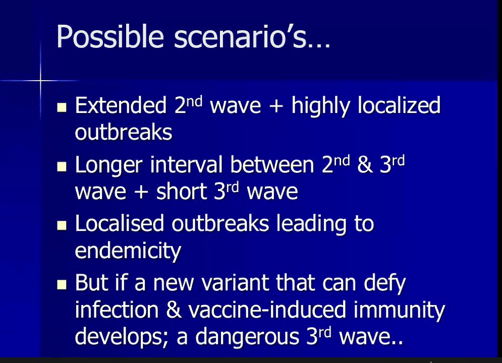 Vaccine, Variants and Third Wave