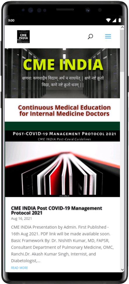 Preview - CME INDIA Post-COVID-19 Management Protocol 2021