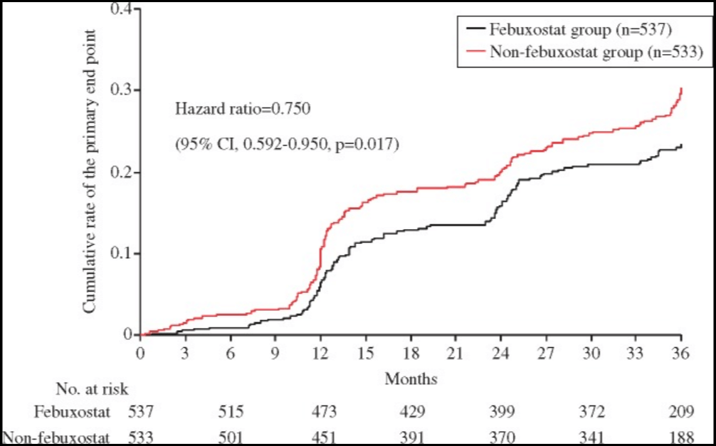 Is Allopurinol Safe in Hyperuricemia with History of Cardiovascular Disease and Renal Failure?